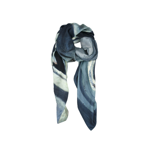 Abstract Sketch Silk Scarf