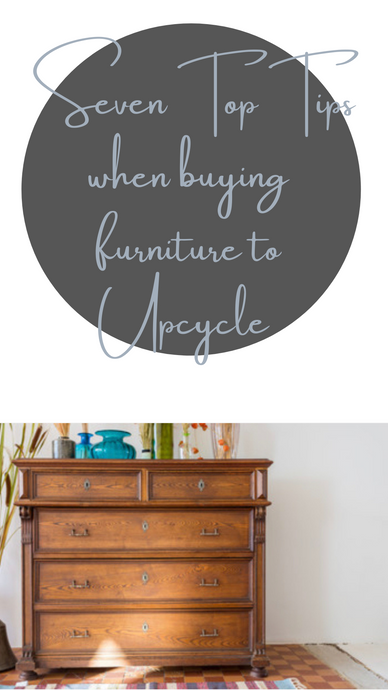 Seven Top Tips When Buying Furniture To Upcycle
