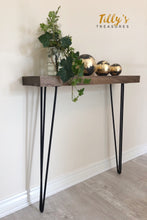 Load image into Gallery viewer, Industrial Style Narrow Console Table