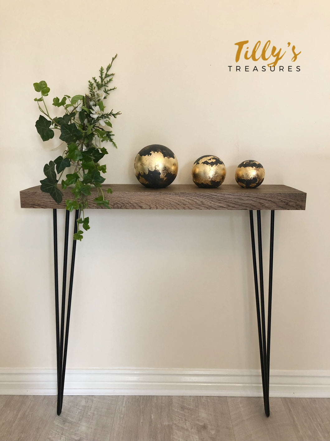 Industrial Style Narrow Console Table
