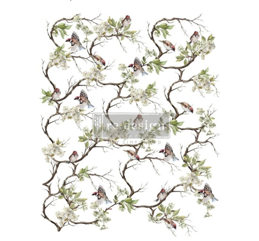 "Blossom Flight' Decor Transfer | Redesign With Prima | Large 25"" X 34"""