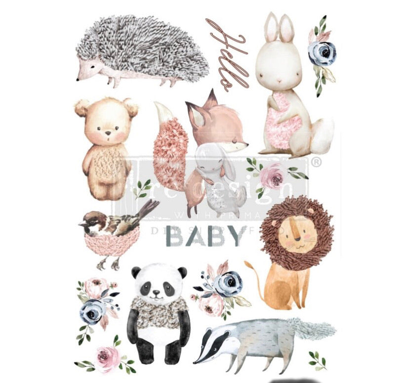 "Hello Baby Decor Transfer | Redesign With Prima | Large 22"" X 30"""