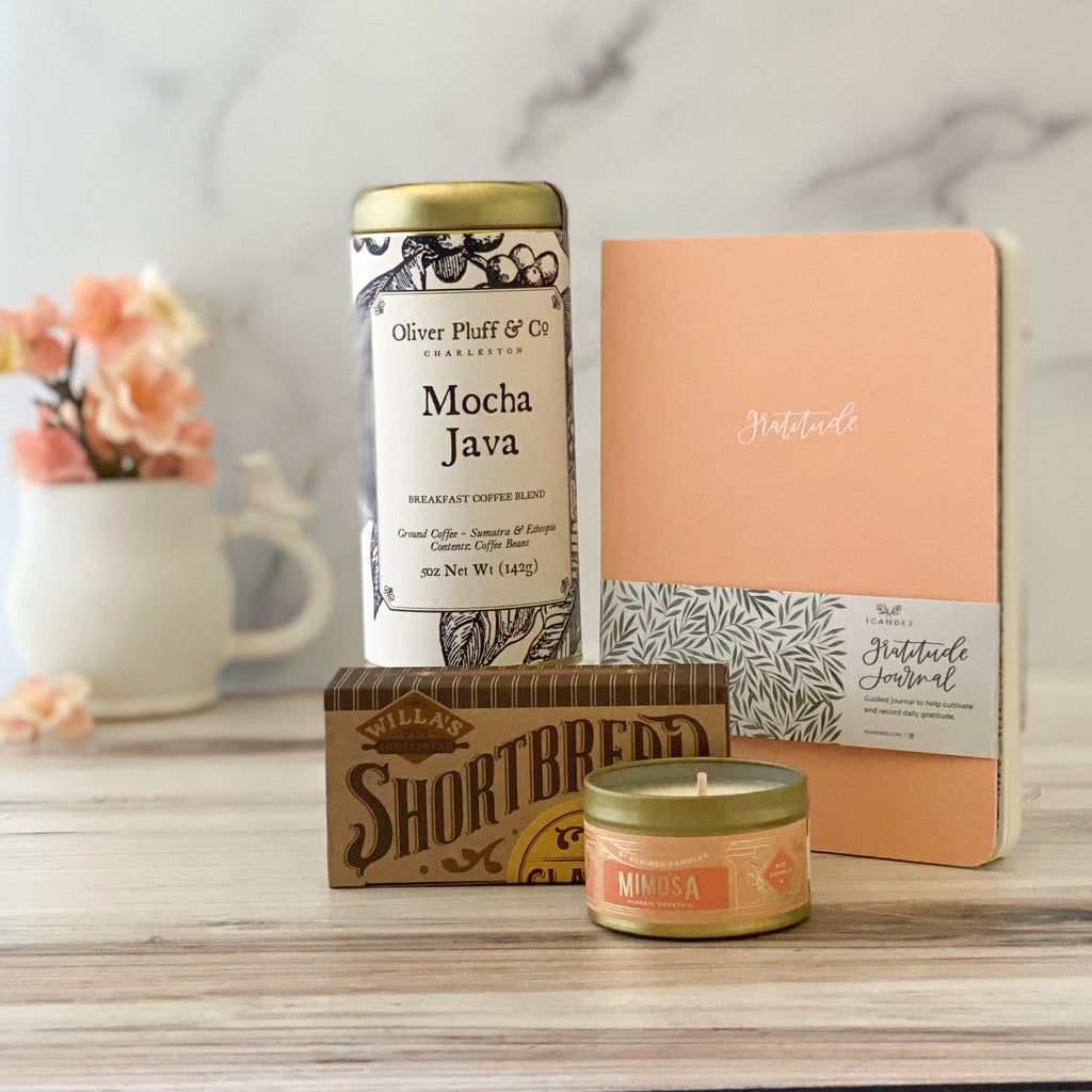 Balance-Sparrow-Box-Gift-Mothers-Day-Gifts-Coffee-Gratitude-Journal-Shortbread-cookies-mimosa-candle-American-Made