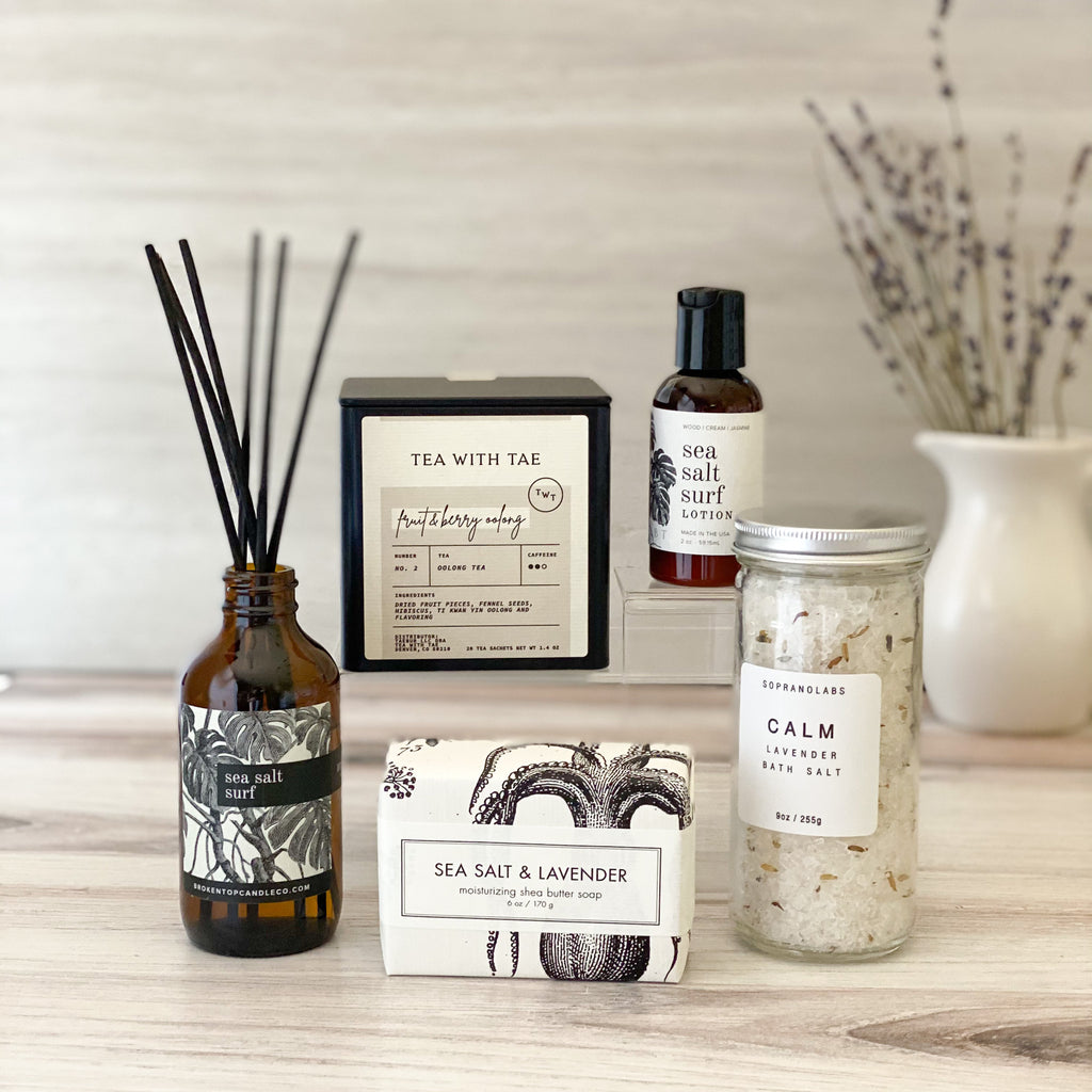 Exhale-Sparrow-Box-Gift-Calm-Bath-Salt-Sea-Salt-Surf-Difusser-Fruit-Berry-Tea-Spa-Gift-For-Her-Mother's-day-American-Made