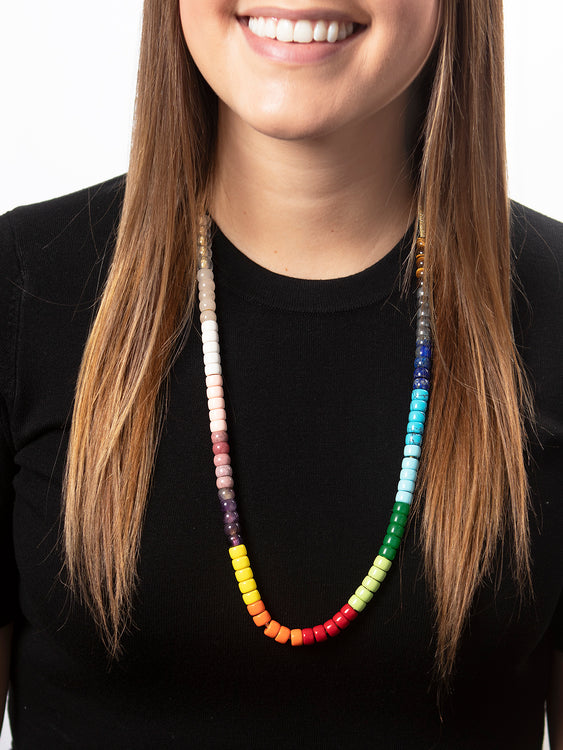 1 rod gilded with round beads and polygons wood Kit necklace 3 balls