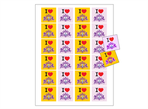 I Love the Director 1.5 X 1.5 Stickers (10 sheets)