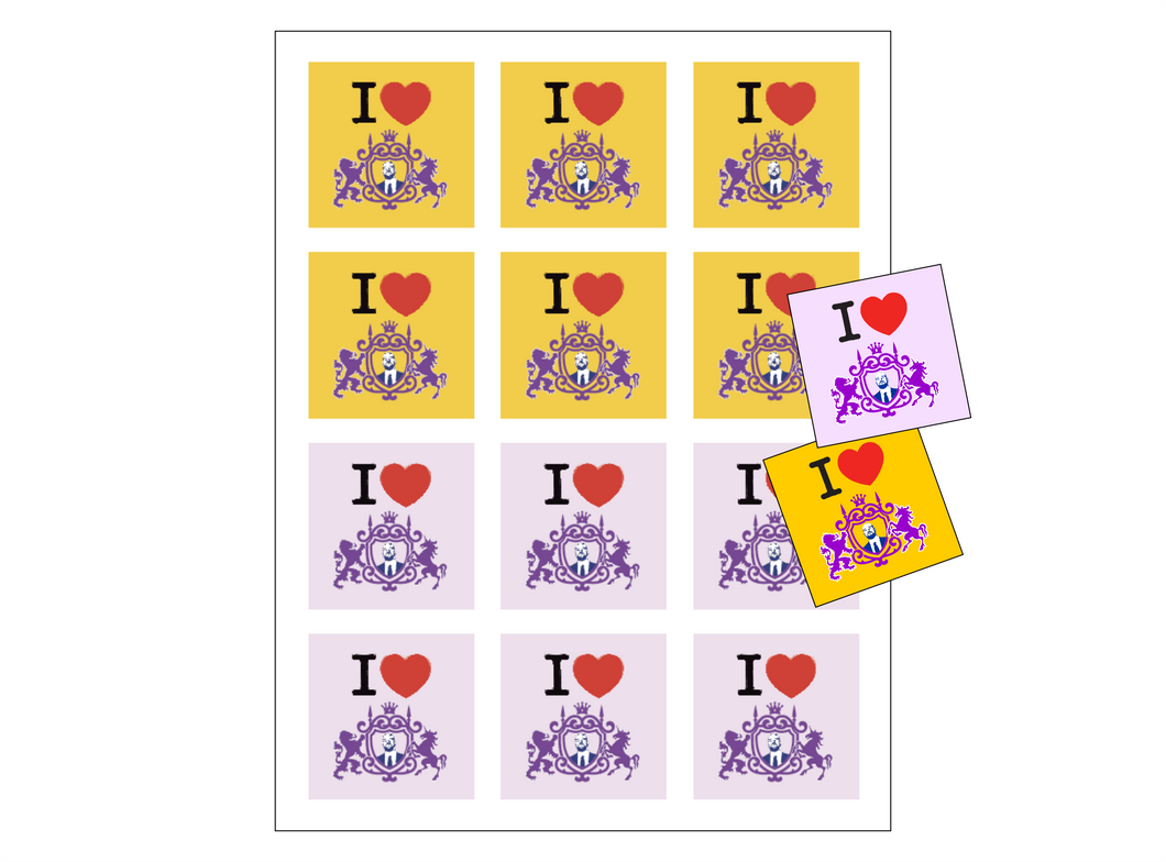 I Love the Director 2X2 Stickers (10 sheets)