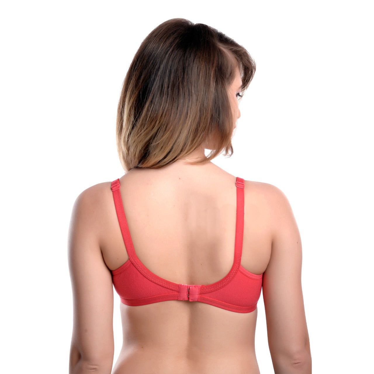 PEACH SOLID UNDERWIRED LIGHTLY PADDED T-SHIRT BRA