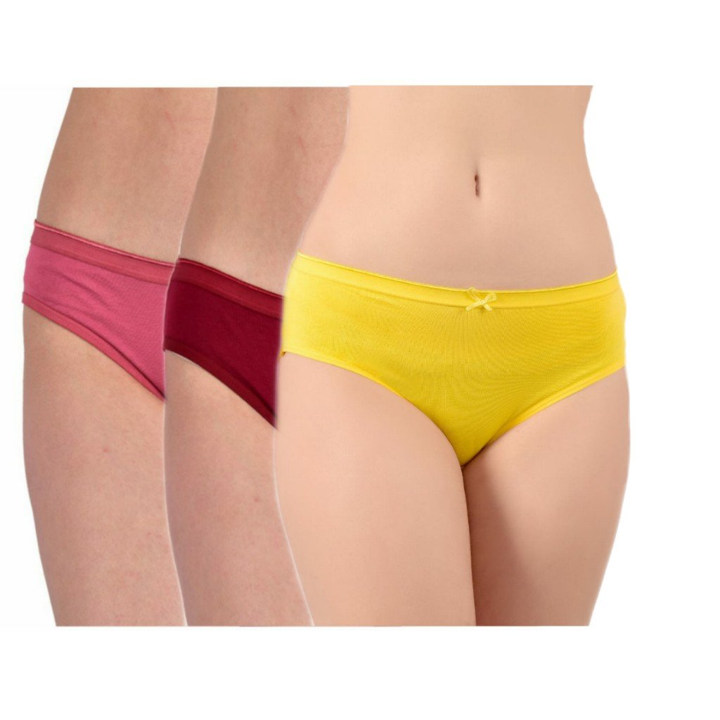 WOMEN COMBO OF 3 ASSORTED BIKINI BRIEFS