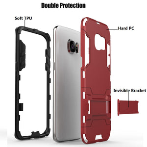 2020 New Shockproof Special Armor Bracket Phone Case For Samaung S7 Edge