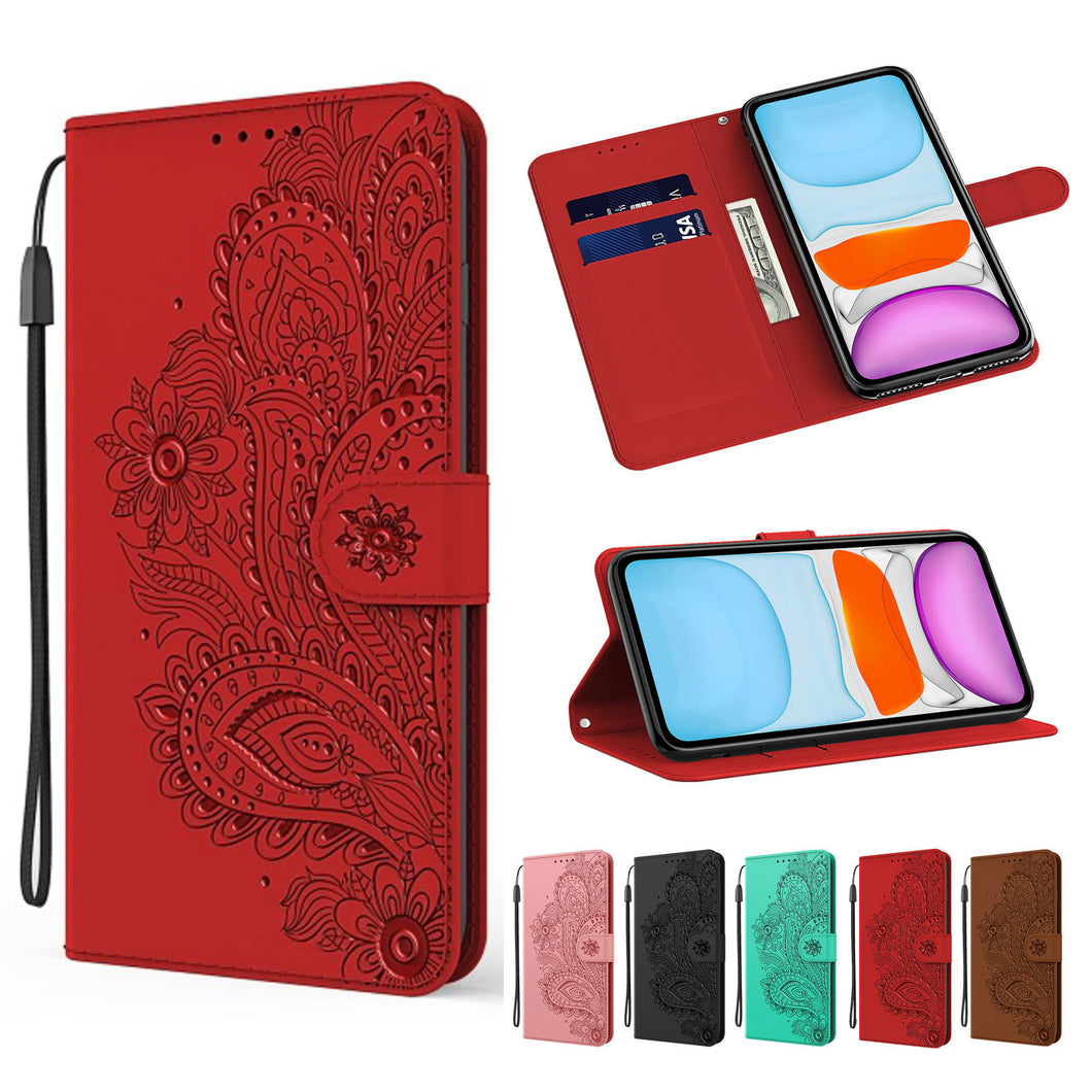 Peacock Embossed Imitation Leather Wallet Phone Case For Motorola