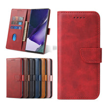 Laden Sie das Bild in den Galerie-Viewer, Premium Leather Wallet Side Flip Case mit Card Holder & Kickstand für Samsung S20 Serie