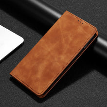 Load image into Gallery viewer, PU Leather Vintage Card Holder Flip Cover Magnetic Cases For iPhone
