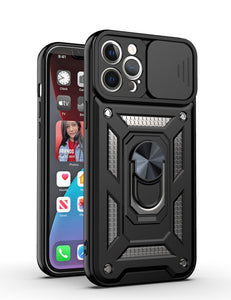 Luxury Lens Protection Vehicle-montiert Shockproof Case for iPhone