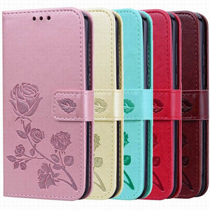2021 Upgraded 3D Embossed Rose Wallet Phone Case For SAMSUNG A01