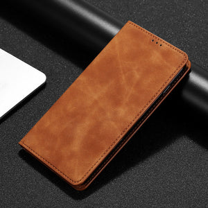 PU Leather Vintage Card Holder Flip Cover Magnetic Cases
