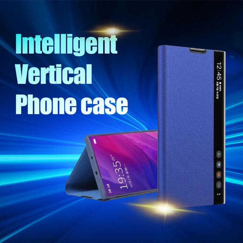 Luxury Vertical Smart Windows Leather Case For HUAWEI P20 Series