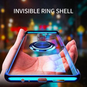 2020 Transparent Colorful Magnetic Ring Holder Phone Case For Oneplus 6