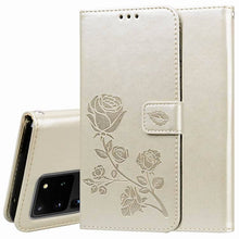 Load image into Gallery viewer, 2021 Upgraded 3D Embossed Rose Wallet Phone Case For SAMSUNG S20ULTRA