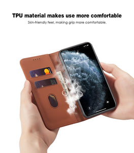 Soft Touch Flip Cover Case For iPhone