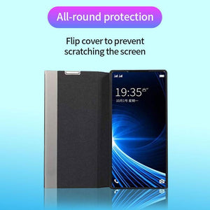 Luxury Vertical Smart Windows Leather Case For Samsung S20 series