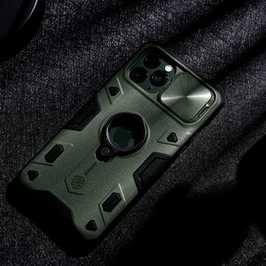 【Black rhino】Luxury Sliding Lens Protection ring holder case for iPhone 11Pro/11ProMax