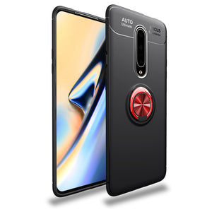 Car Holder Stand Magnetic Bracket Case Finger Ring TPU Case For OnePlus 7 Pro