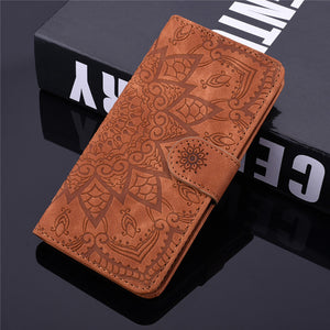 Flip Leather 3D Embossed Phone Case For Samsung