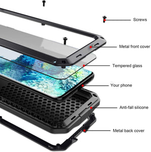 2021 NEW Luxury Doom Armor Waterproof Metal Aluminum Phone Case For Samsung S20
