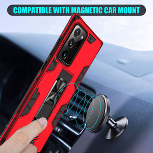 2020 Luxury Magnet Kickstand Car Holder Phone Case For SAMSUNG Galaxy NOTE20 Series