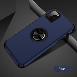2020 Upgraded Silicone Magnetic Ring Holder iPhone Case