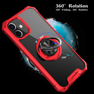 2021 Ultra-thin Four-Corner Anti-Fall Magnetic Ring Case For iPhone 12 Mini