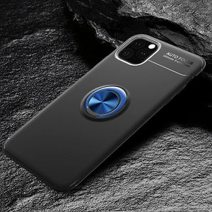 Car Holder Stand Magnetic Bracket Case Finger Ring TPU Case For iPhone