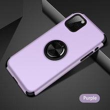 Load image into Gallery viewer, 2020 Upgraded Silicone Magnetic Ring Holder iPhone Case