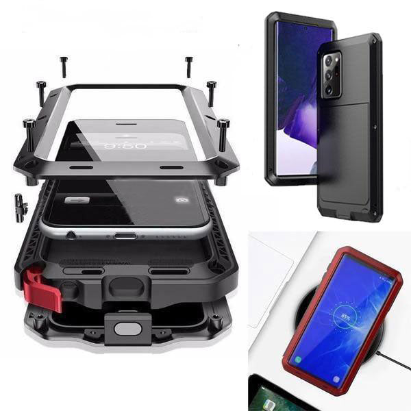 Luxury Doom Armor Waterproof Metal Aluminum Phone Case For Samsung NOTE20 Ultra
