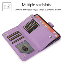 Load image into Gallery viewer, Luxury Zipper Leather Wallet Flip Multi Card Slots Case For Samsung Galaxy NOTE10Plus