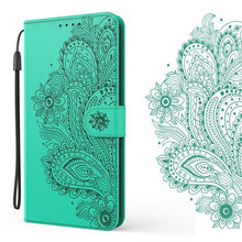 Load image into Gallery viewer, Peacock Embossed Imitation Leather Wallet Phone Case For Samsung A51