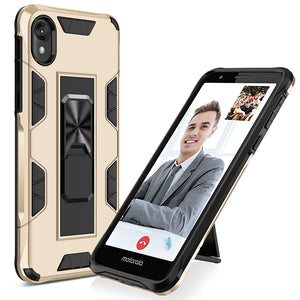 2020 Luxury Magnet Kickstand Car Holder Telefon Case for MOTO E6/E6S