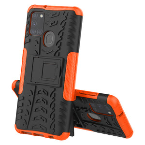 Rubber Hard Armor Cover Case For Samsung Galaxy A21S