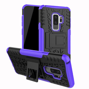 Rubber Hard Armor Cover Case For Samsung Galaxy S9/S9 Plus
