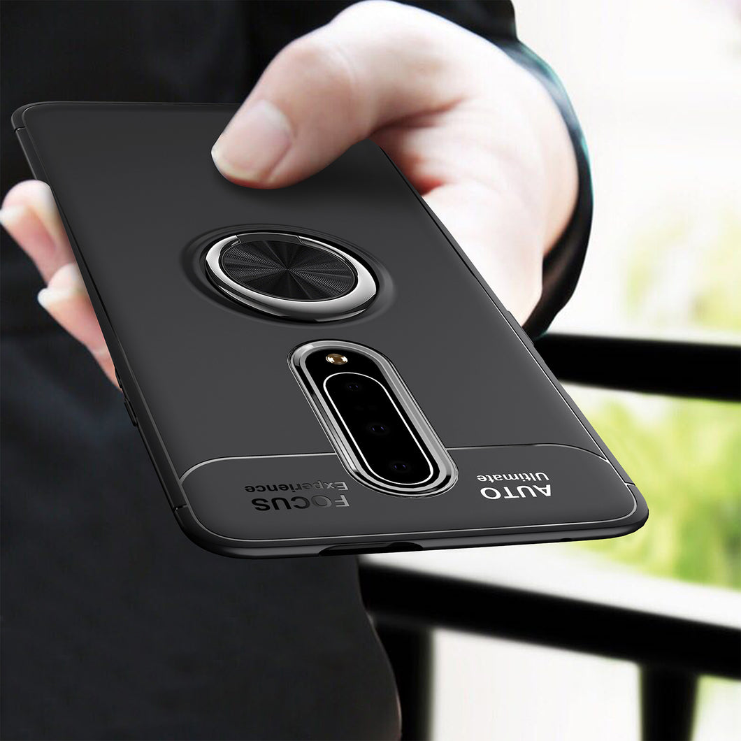 Car Holder Stand Magnetic Bracket Case Finger Ring TPU Case For OnePlus