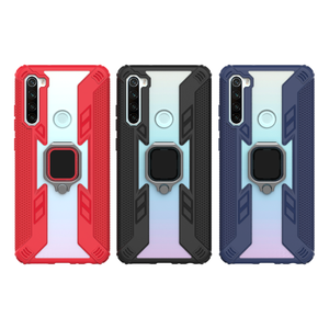 Warrior Style Magnetic Ring Kickstand Phone Cover For Redmi Note 8T