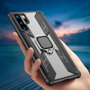 Warrior Style Magnetic Ring Kickstand Phone Cover For Huawei P30 Pro