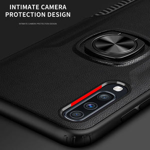 Classic 3 in 1 Magnetic Finger Ring Phone Case  For Samsung Galaxy A70