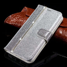 Load image into Gallery viewer, 2021 New Bling Diamond Stitching Wallet Flip Case For Samsung