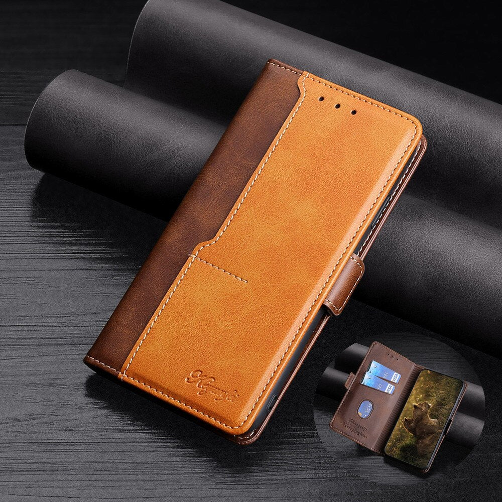 New Leder Brieftasche Flip Magnet Cover Case für Samsung Galaxy A12