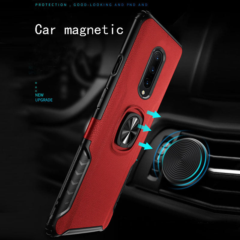 Classic 3 in 1 Magnetic Finger Ring Phone Case  For Oneplus 7Pro