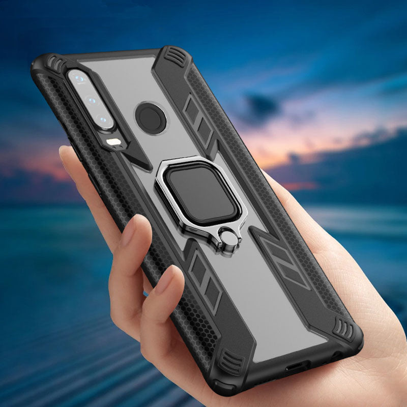 Warrior Style Magnetic Ring Kickstand Phone Cover For Huawei P30 Lite