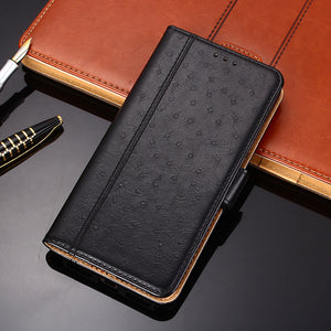 Ostrich Pattern Leather Wallet Flip Magnet Cover Case For SAMSUNG S9/S9PLUS