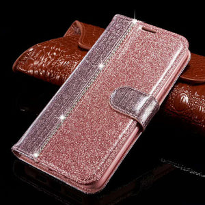 2021 New Bling Diamond Stitching Wallet Flip Case For Samsung